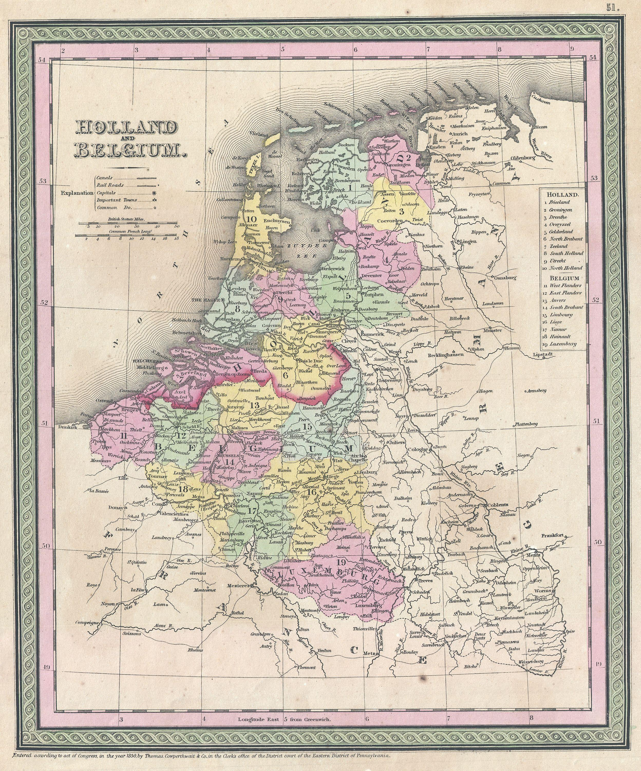 file1850 mitchell map of holland and belgium geographicus hollandbelgium mitchell