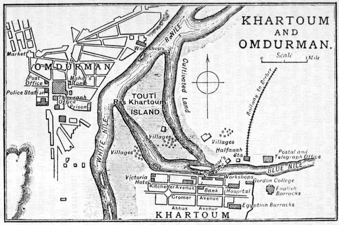 File1905 map Khartoum and Omdurman by Thomas Cookpng Wikimedia