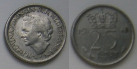 Twenty-five cent coin (Netherlands)