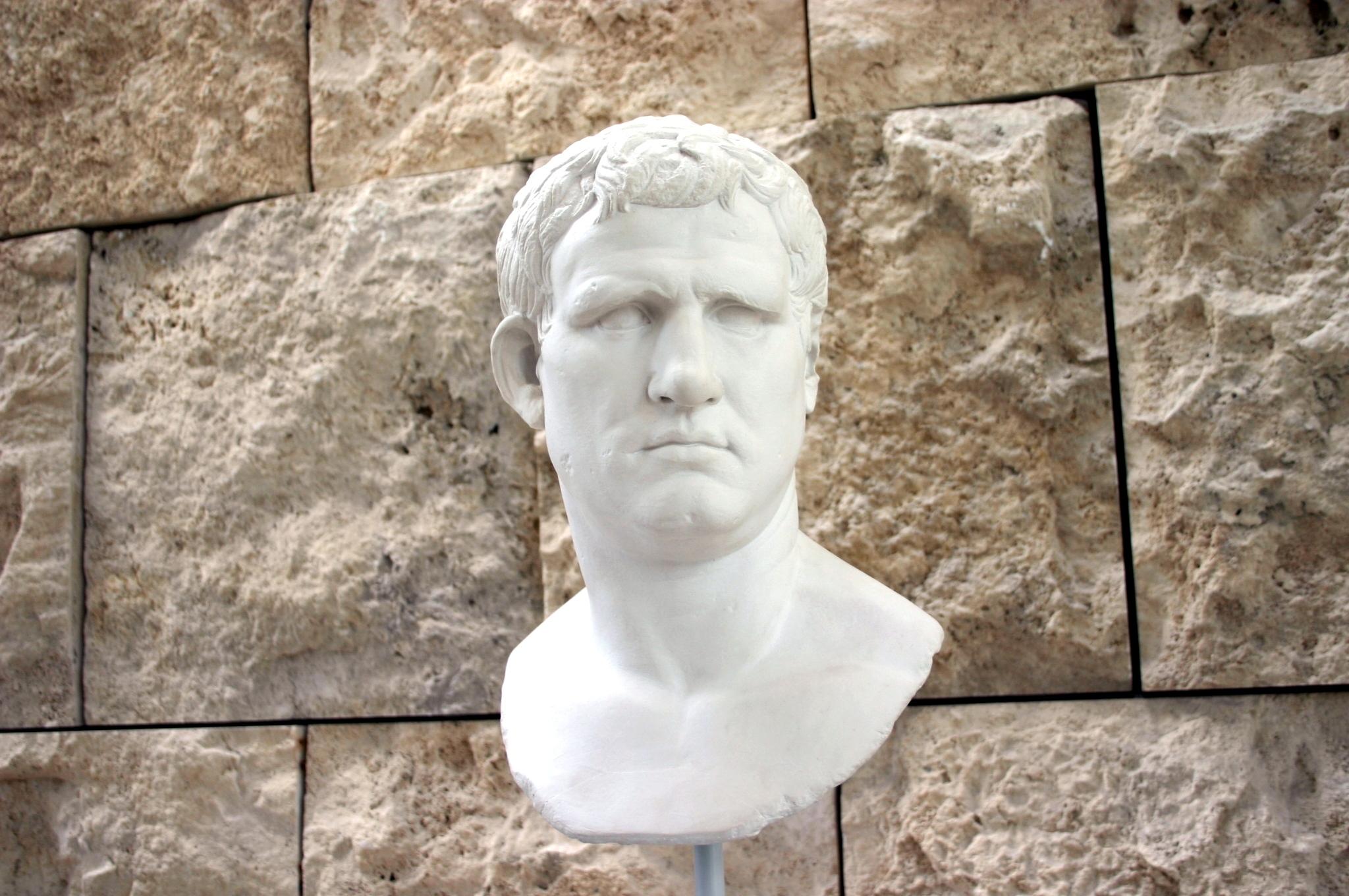 Marco Vipsanio Agripa, promotor de la construcción del teatro Romano de Mérida.