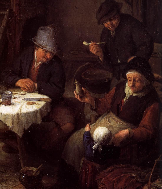 File:Adriaen van Ostade - Peasant Family in a Cottage ...