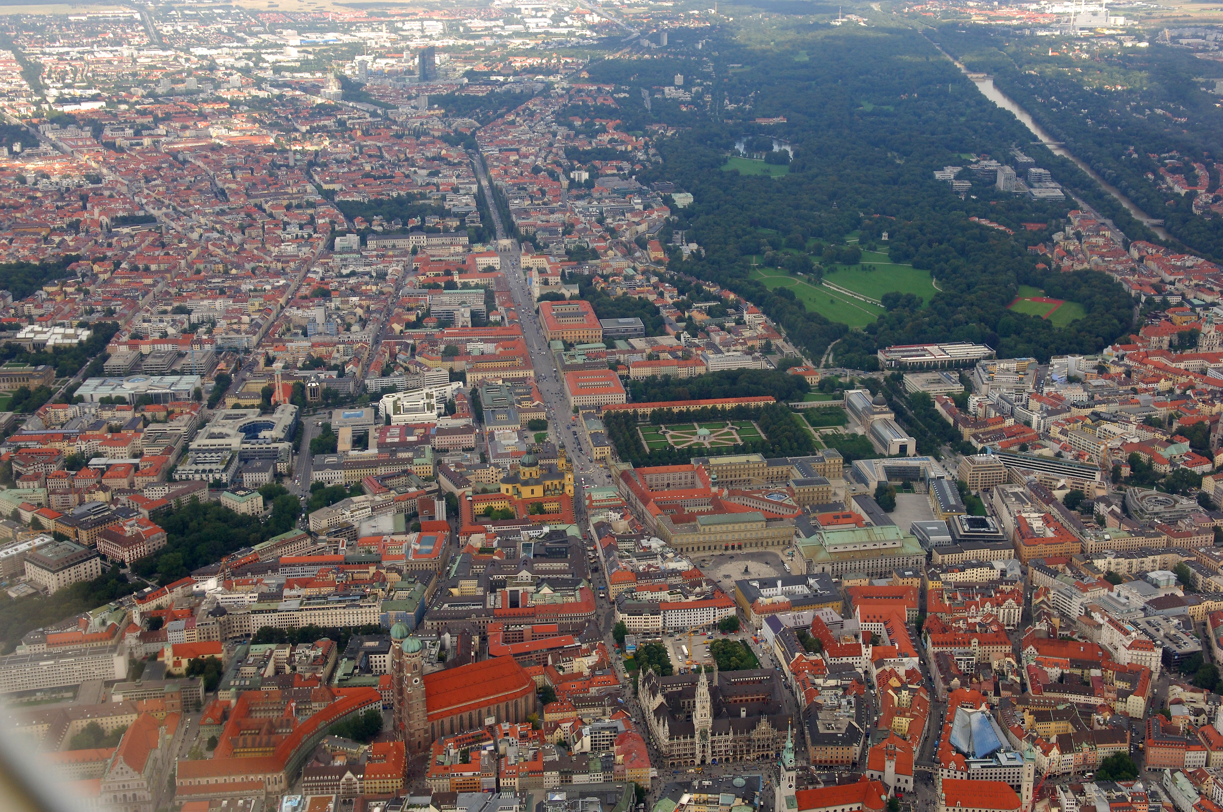 Munich Germany  city photos gallery : Description Aerial view of Munich
