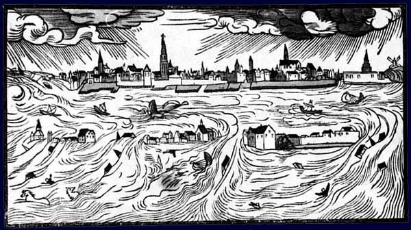 Hans Moser: Inundación en los Países Bajos de 1570.