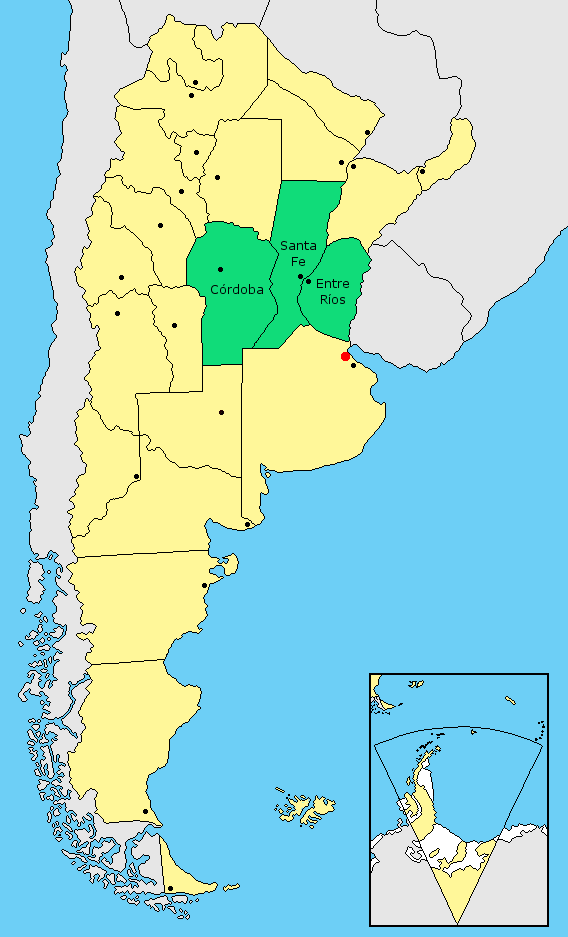 Center Region Argentina Wikiwand - Argentina regions map