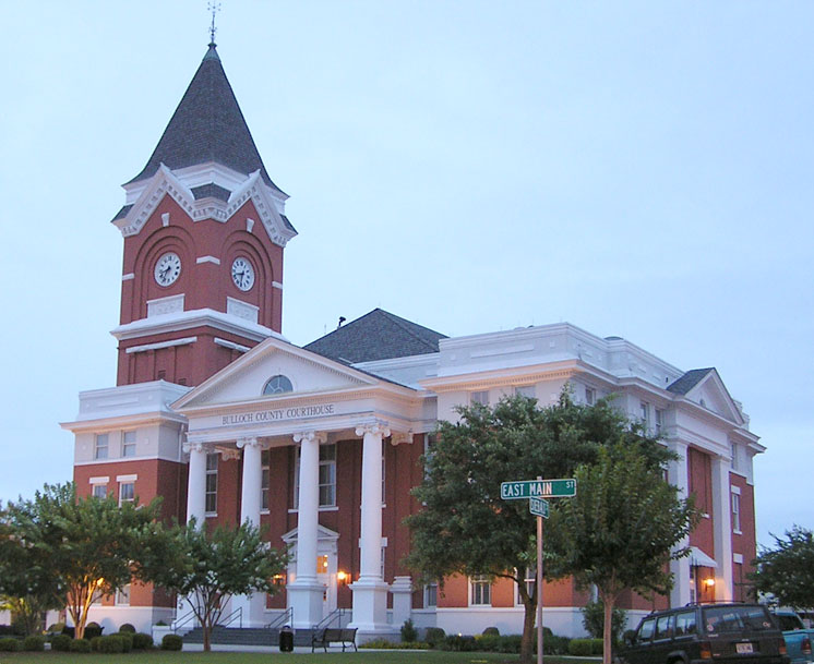 Bulloch County Courthouse inbalance of bullock county