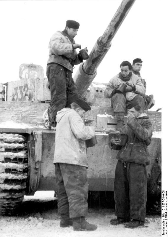 A Tiger crew consuming their rations