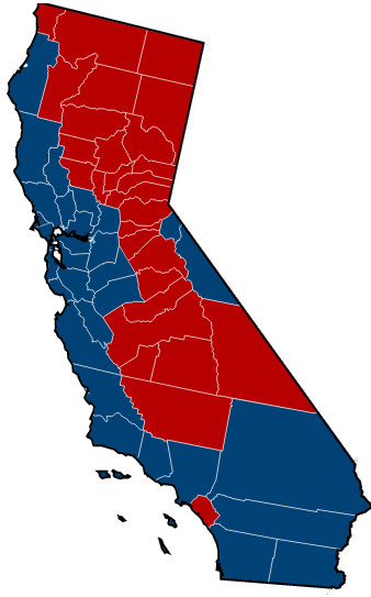 Why Does California ALWAYS Go Blue? (voters Congress Ethic Reagan) - Elections - City-Data Forum