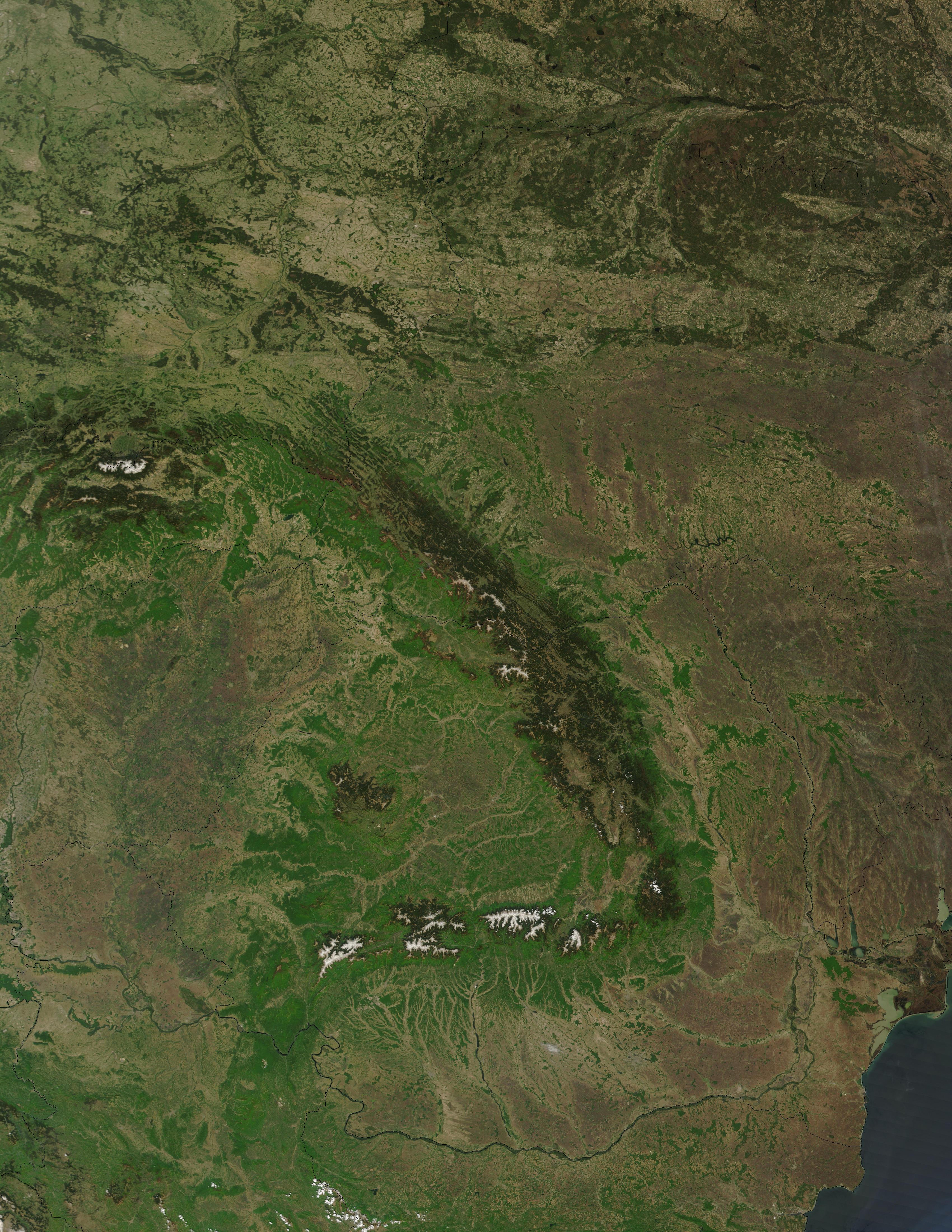 Montes Balcanes Mapa Geografico.Montes Carpatos Wikipedia La Enciclopedia Libre