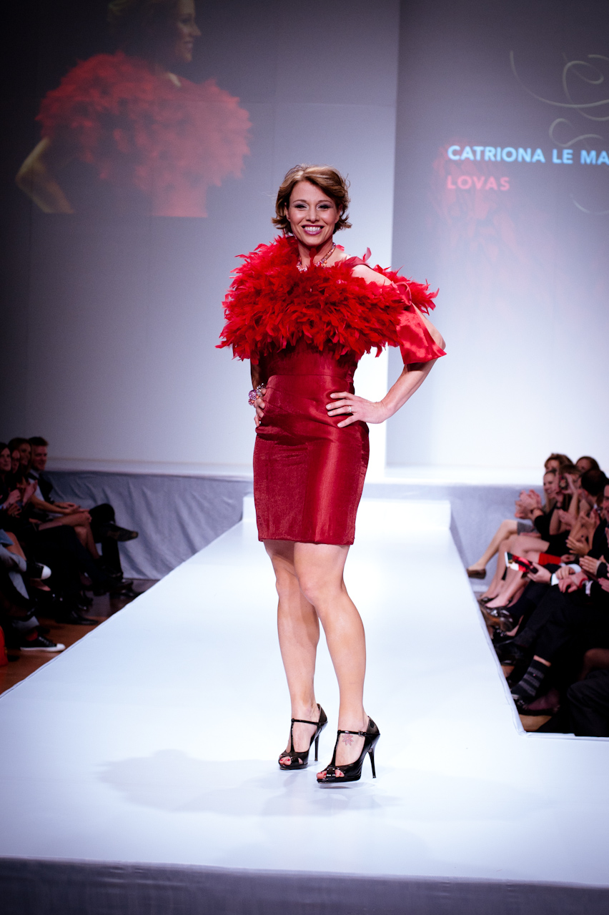 celebrity fashion show - Red Dress - Red Gown - Thursday February 8