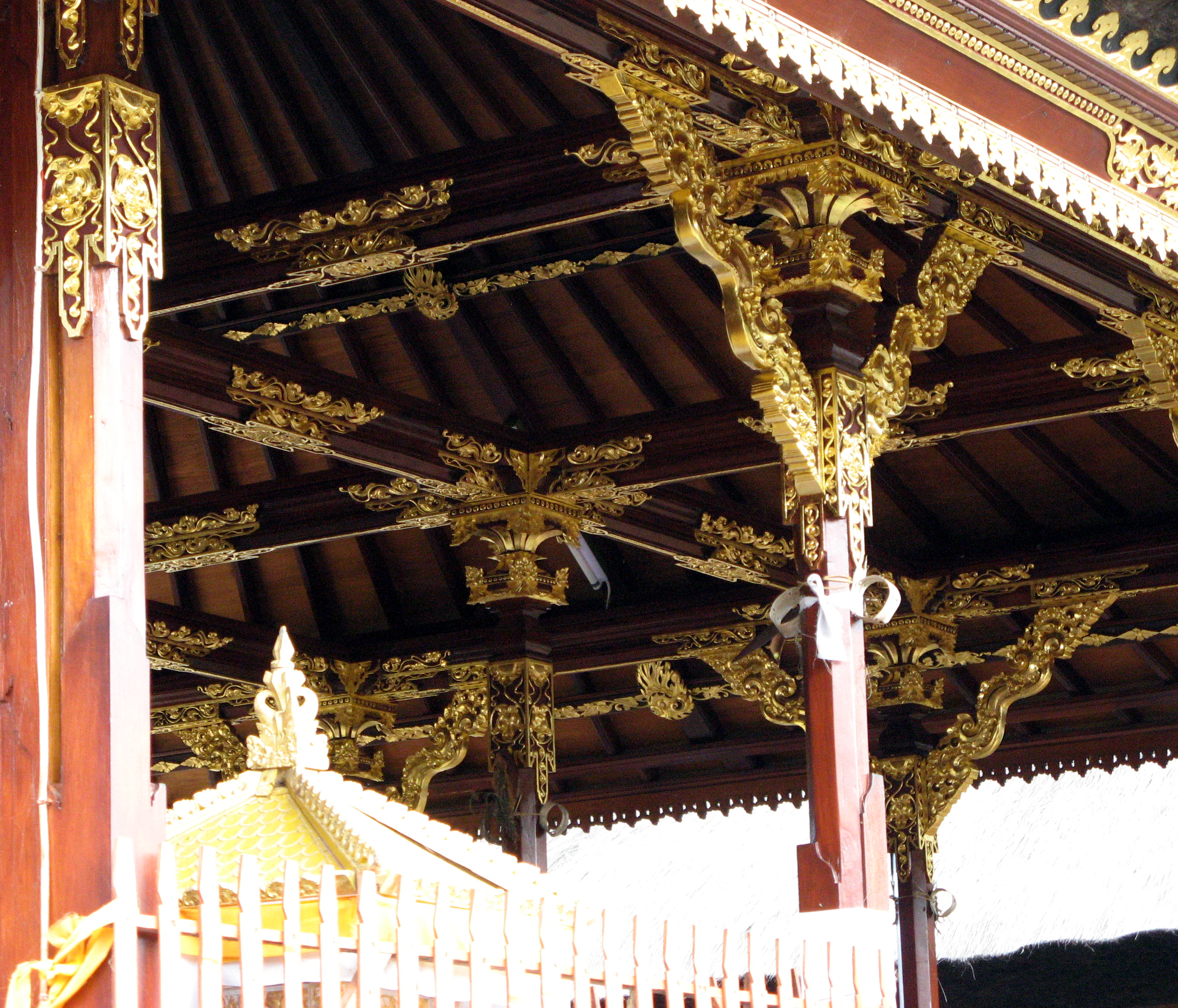 file ceiling decoration on pura penataran agung in besakih