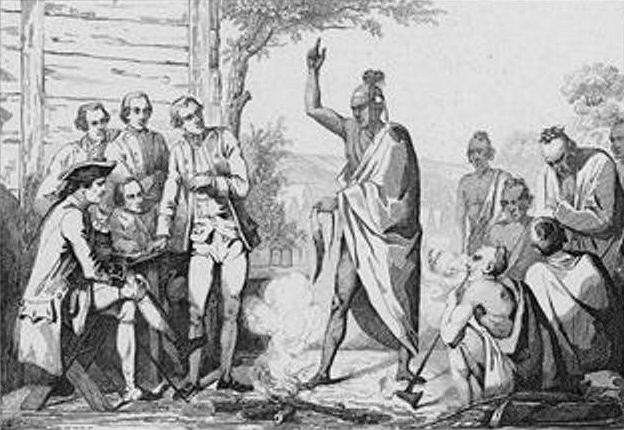 Conference Between the French and Indian Leaders Around a Ceremonial Fire by Vernier.jpg