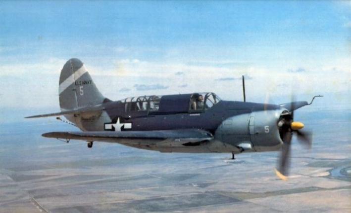 Curtiss_SB2C-5_Helldiver_warbird_in_flig