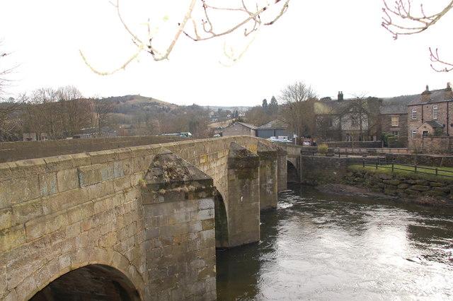 Darley Bridge and River Derwent - geograph.org.uk - 1739358