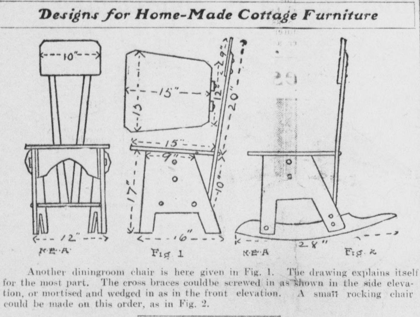 File Designs For Homemade Cottage Furniture 1904 Dining Room
