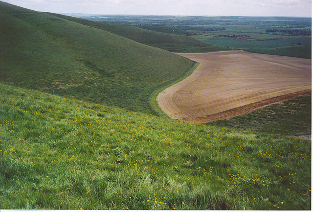 Downland West of Tan Hill. - geograph.org.uk - 185610