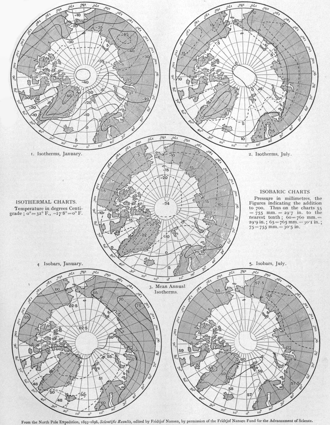 EB1911 Polar Regions -North Polar Regions Isotherms.jpg