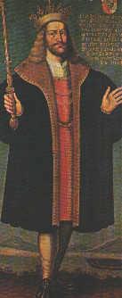 Den hellige Erik Plovpenning, freske i kirken St. Bendt i Ringsted