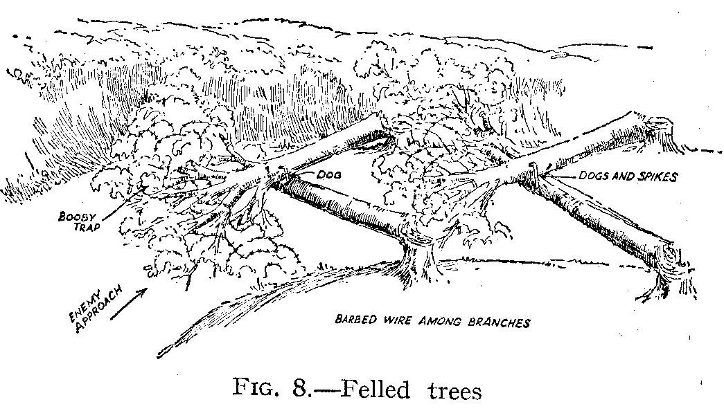 file felled trees as anti
