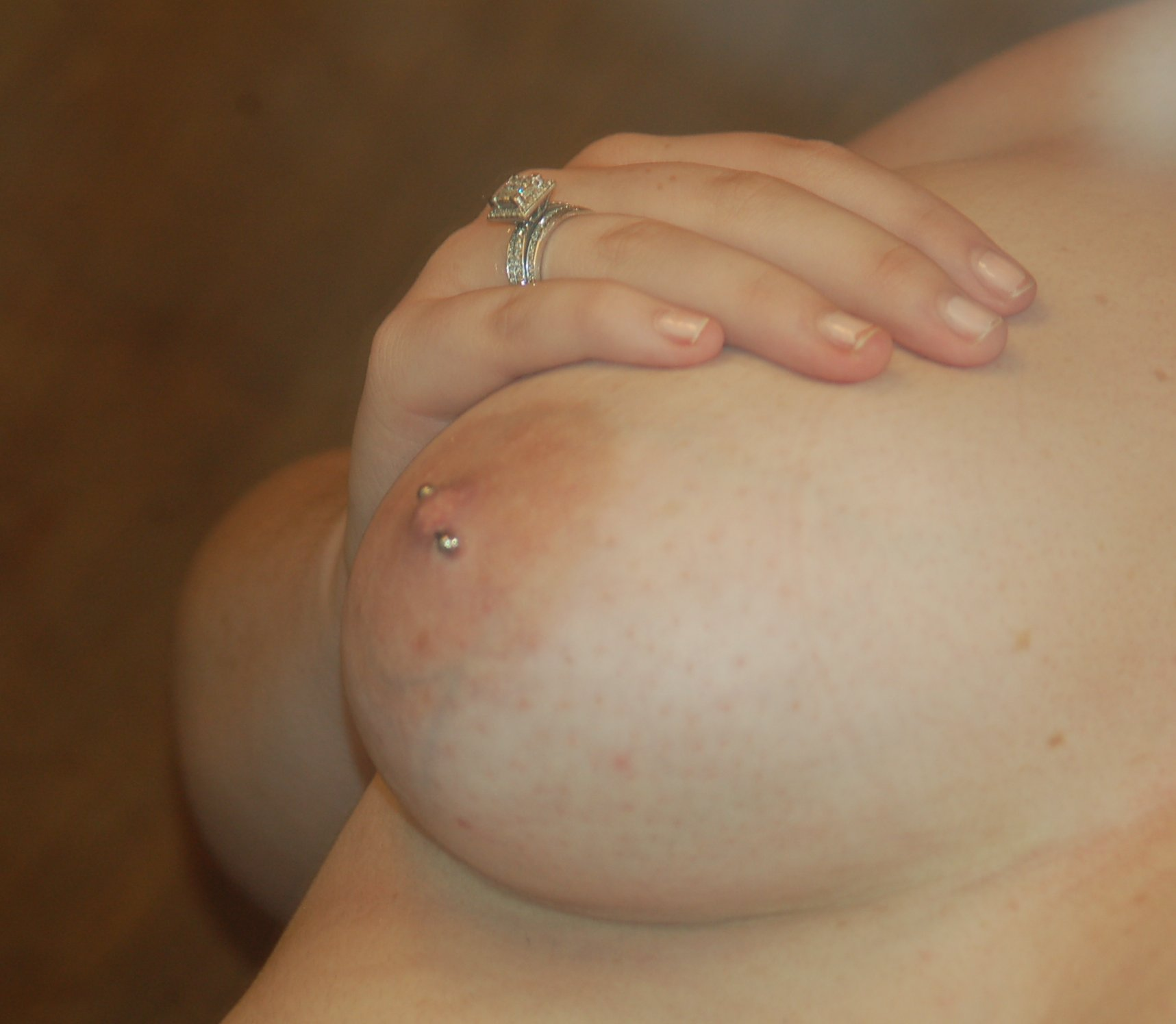 girl nipple piercing