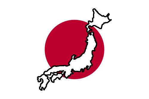Файл:Flag and map of Japan.png