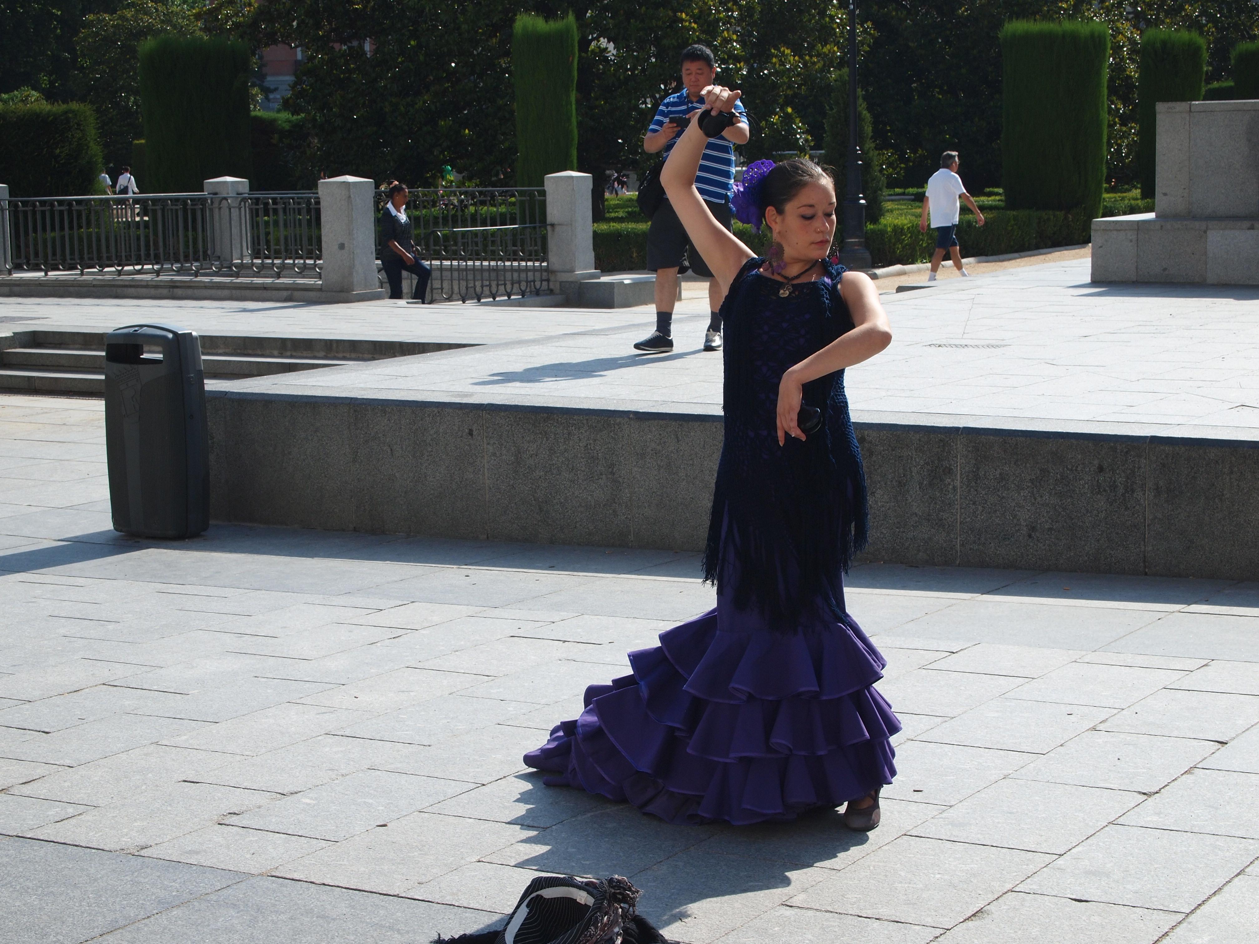 Flamenco dance in street of Madrid, Spain.JPG