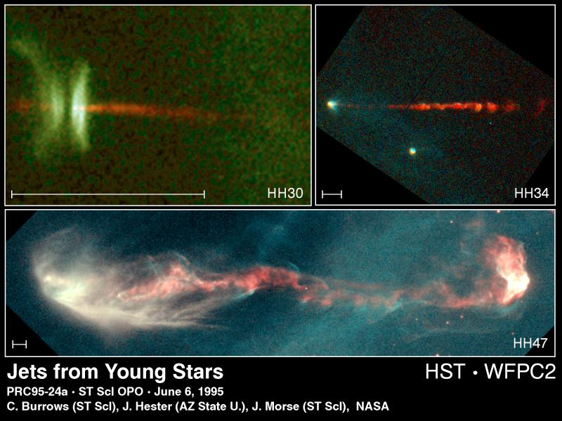 File:Gaseous Jets From Three Newly Forming Stars.jpg