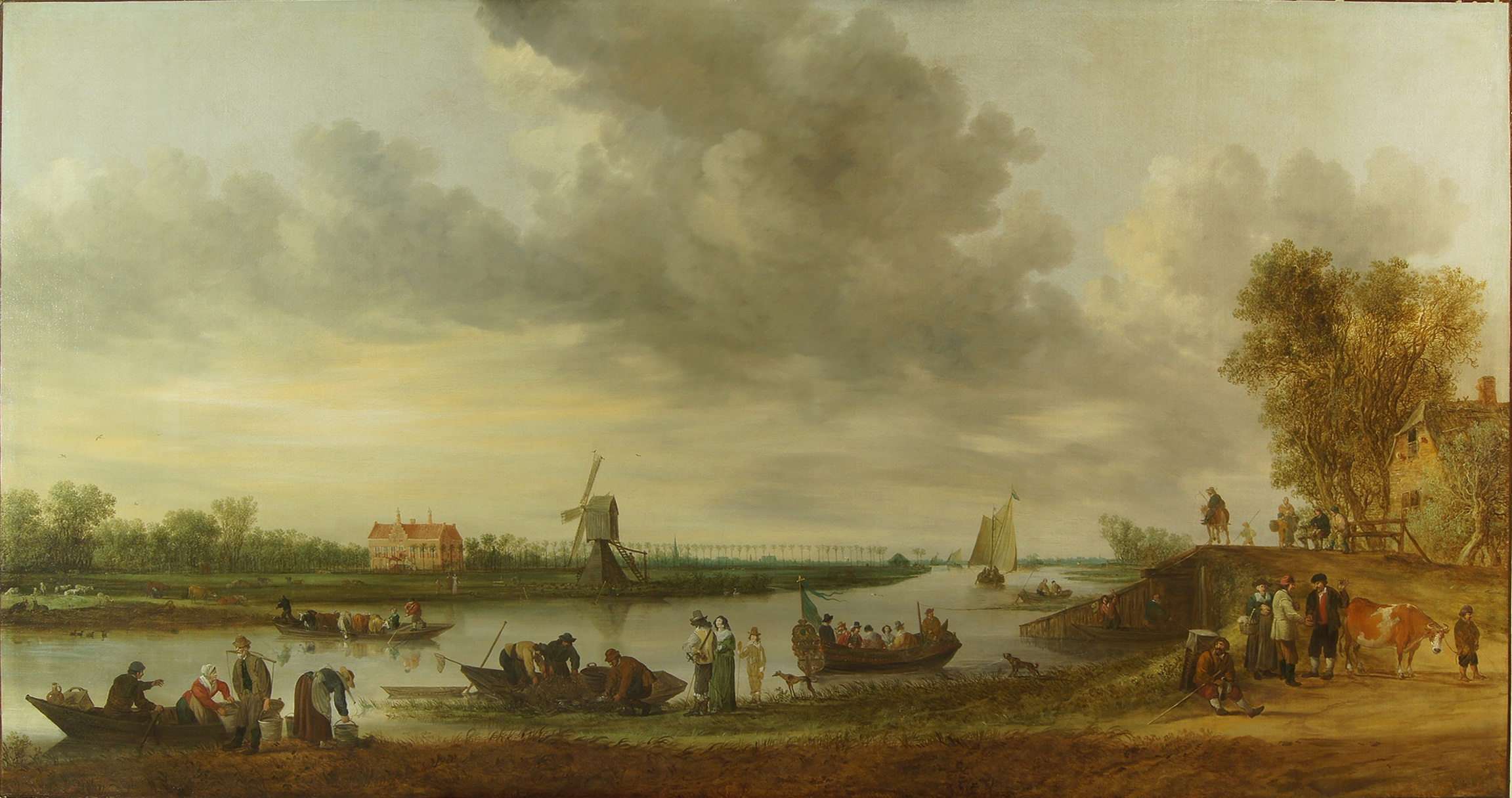 Jan van Goyen, 1642, Landscape with Huys Roucoop
