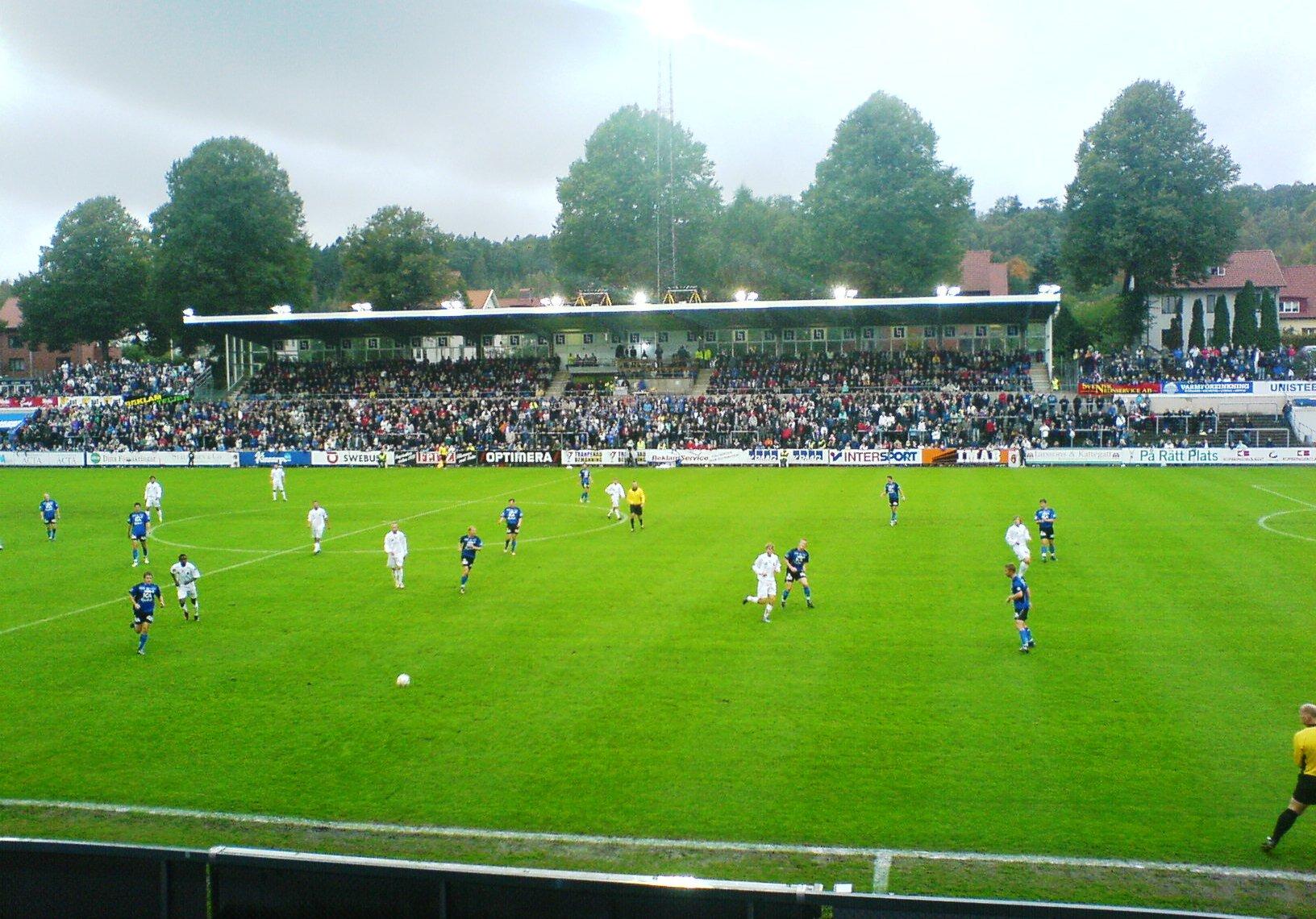 Spiel zwischen Halmstads BK und Gefle IF.
