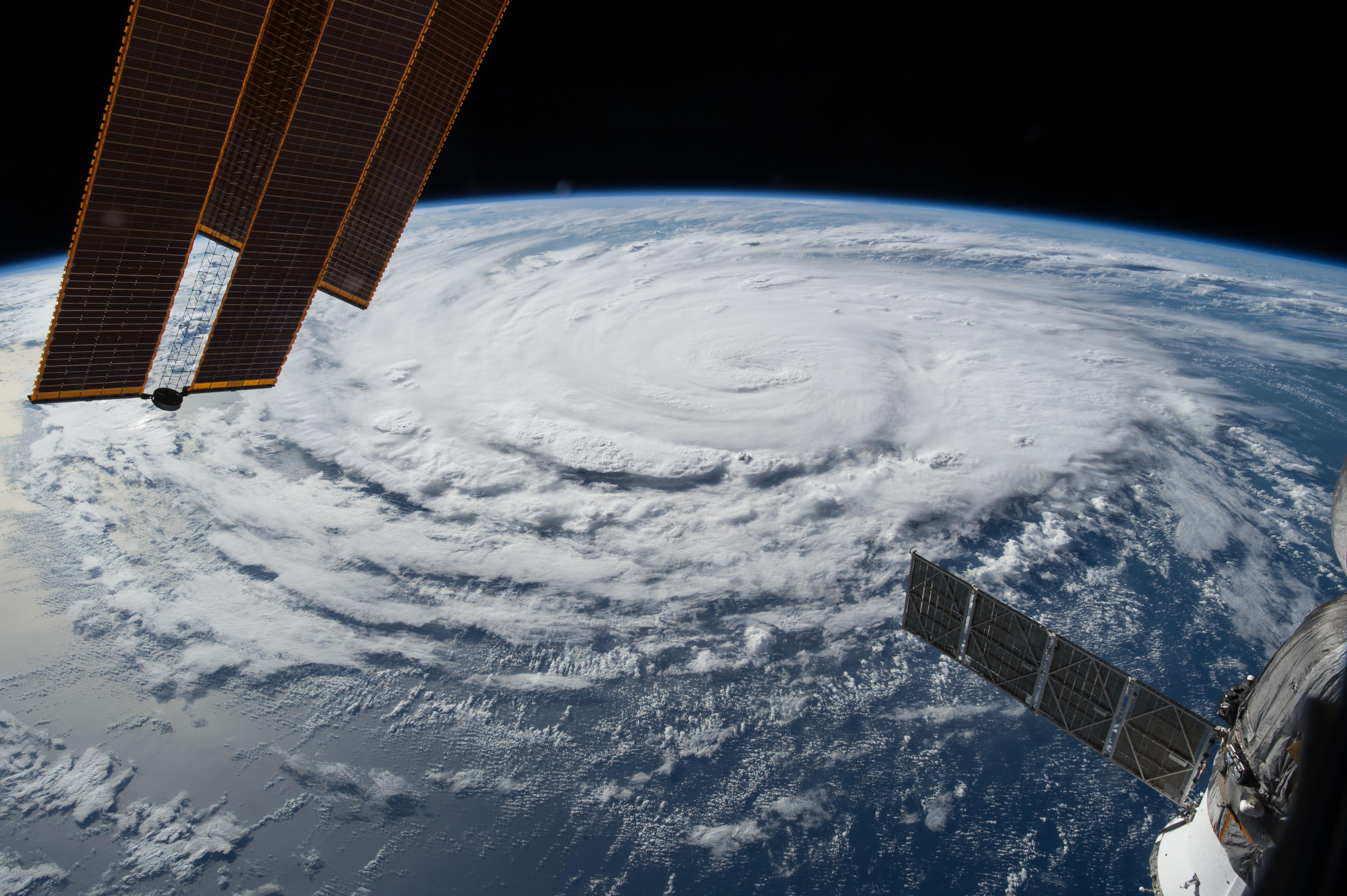 Hurrikan aus Weltraumsicht
