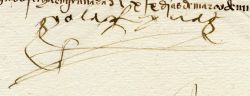 A document signed by Isabella I in Granada in March 1501.