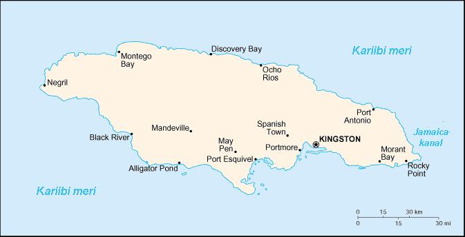 jamaica kaart