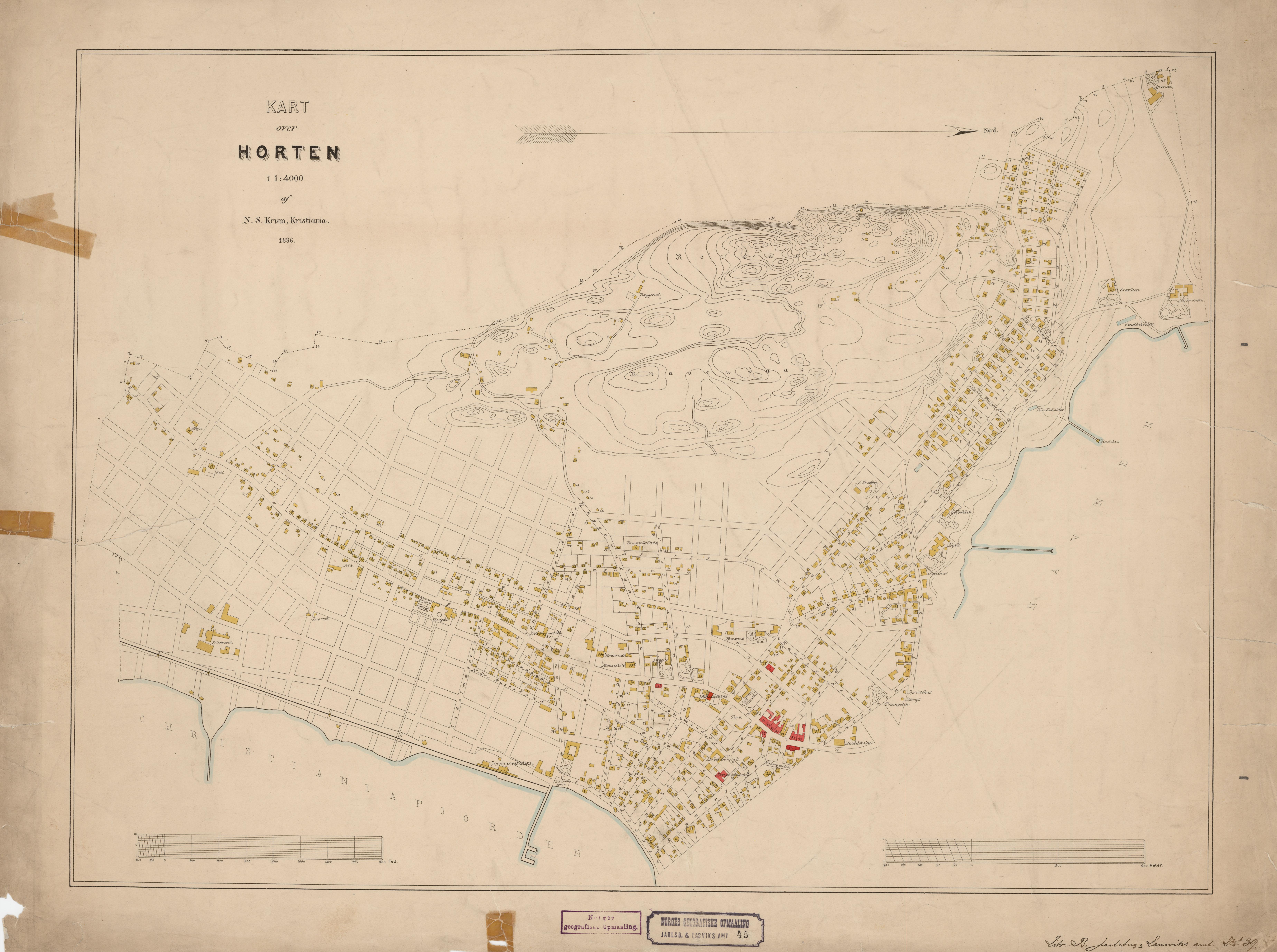 horten kart File:Jarlsberg og Larviks amt nr 45  Kart over Horten, 1886.  horten kart