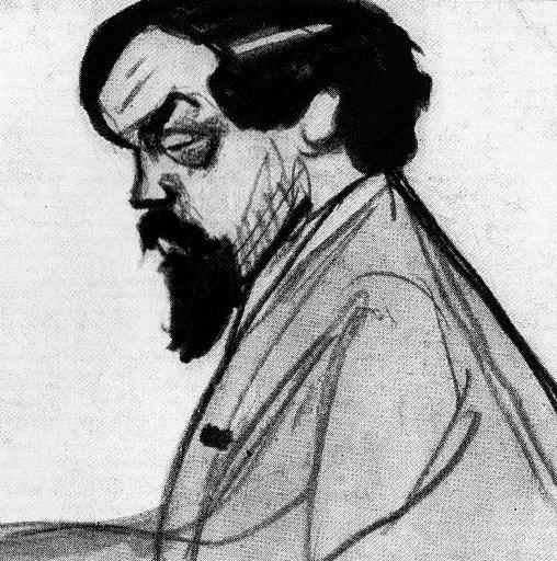 Jean Dulac - caricature de Debussy 1912.PNG
