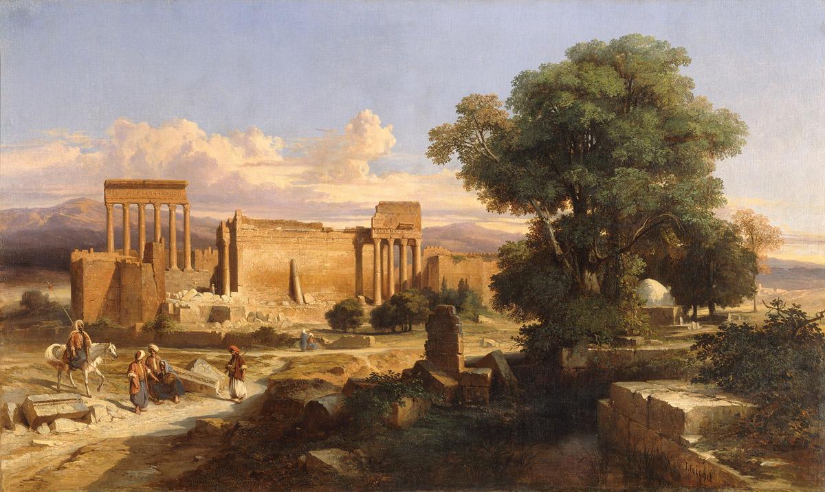 Ruins in art: Jules Louis Coignet, Ruins in Baalbek