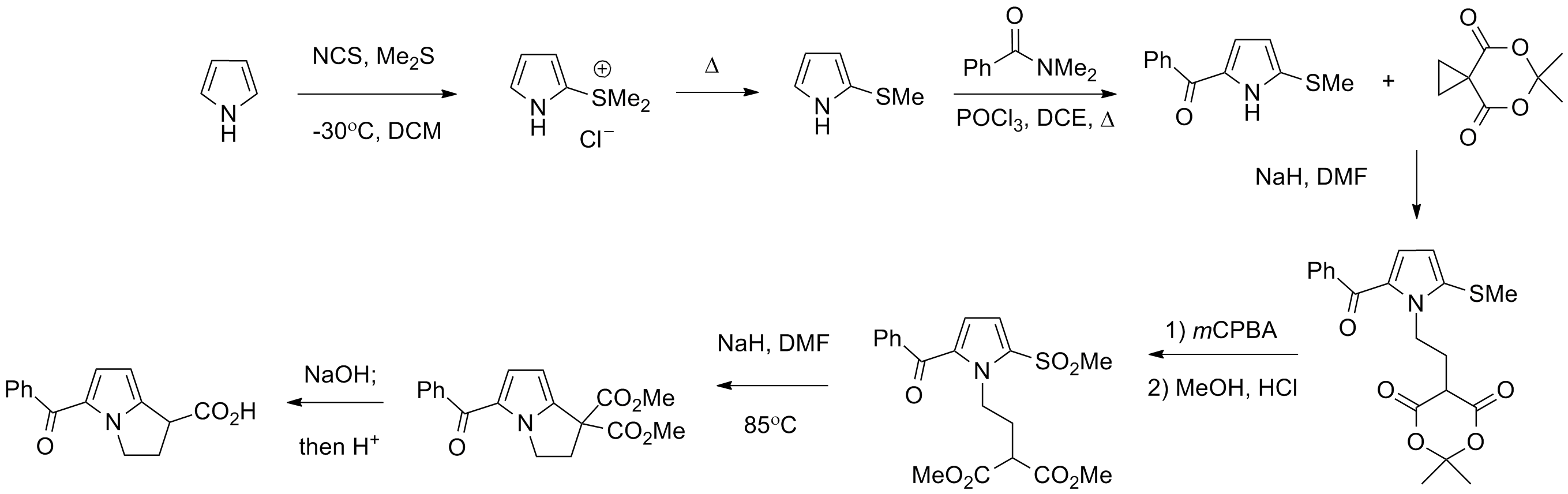 Image result for Ketorolac SYNTHESIS