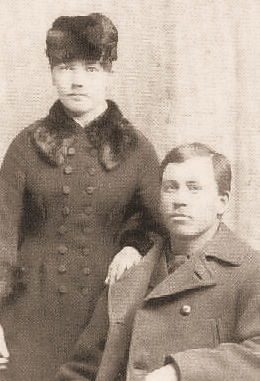 Laura and Almanzo Wilder, circa 1885 Laura and Almanzo Wilder 1885 retouched sepia.jpg