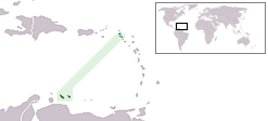 Location of Netherlands Antilles