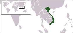 Location of Viétnam