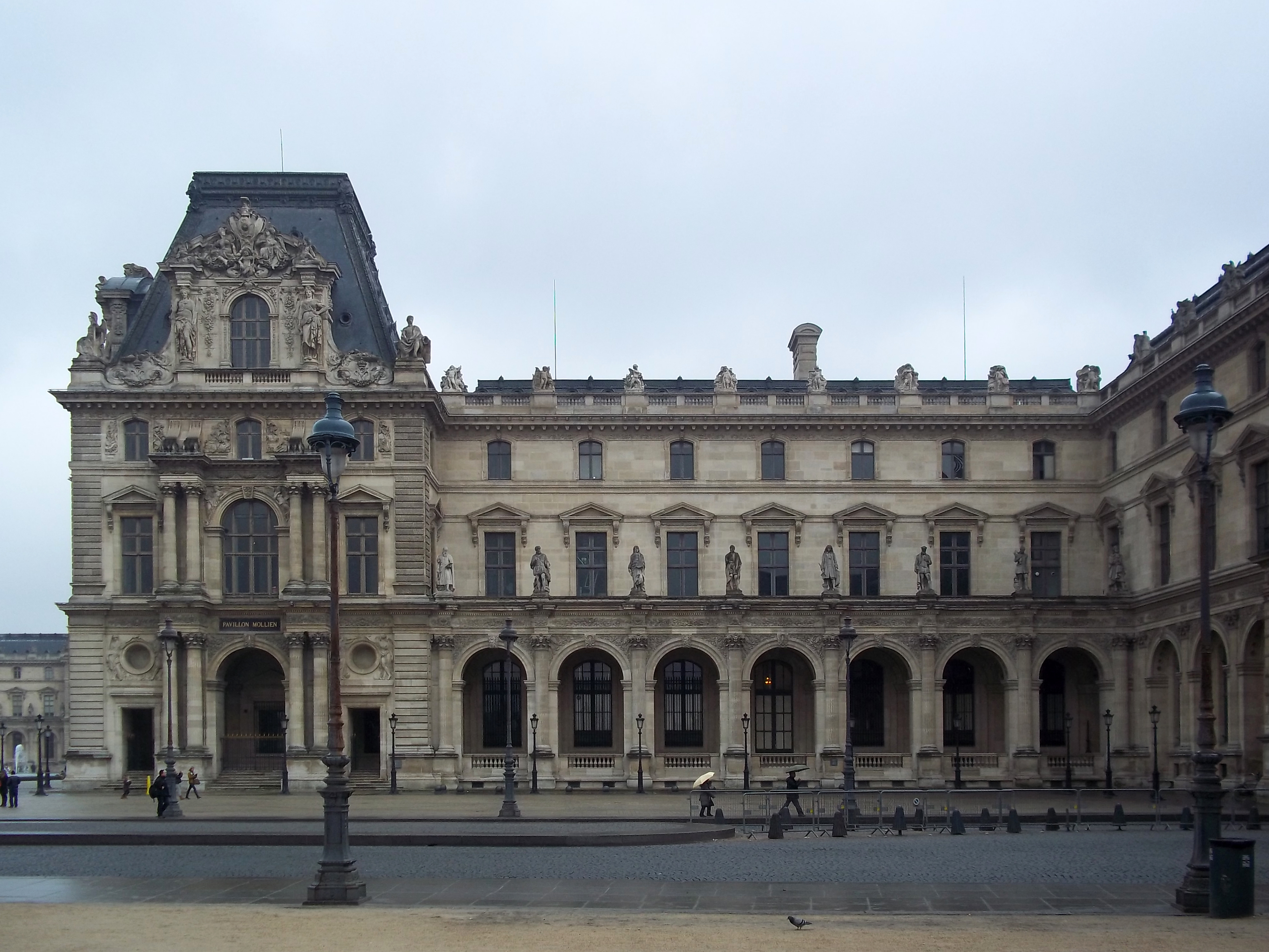 File louvre museum lateral view1 jpg wikimedia commons - Construction of the louvre ...