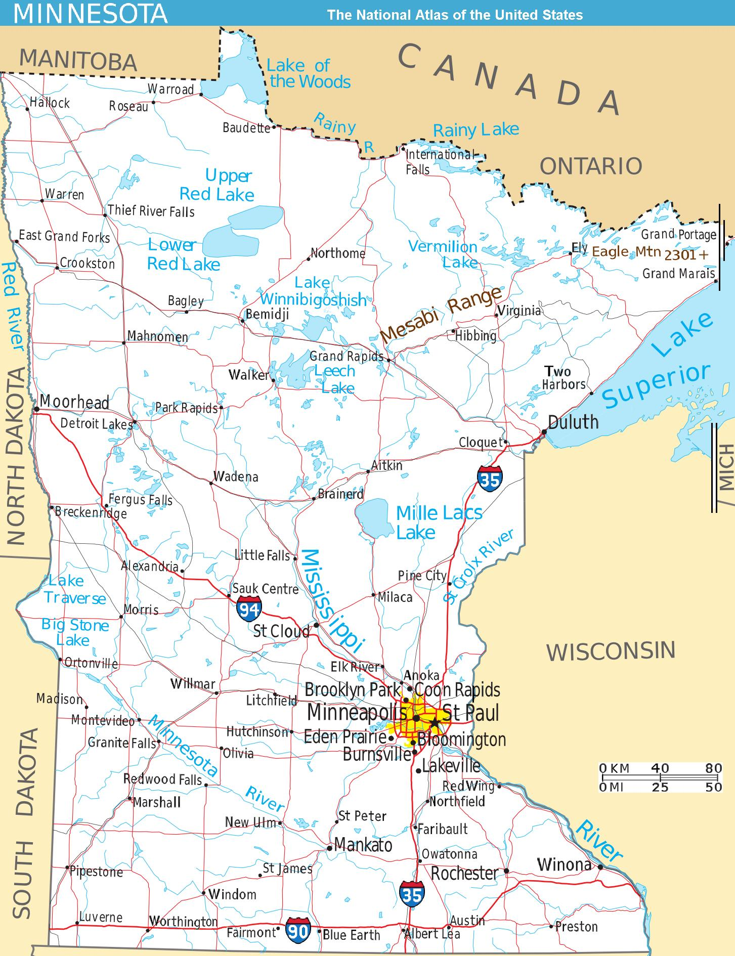 21 Awesome Minnesota Lakes that All Fishermen Should Know About – Minnesota Tourist Attractions Map