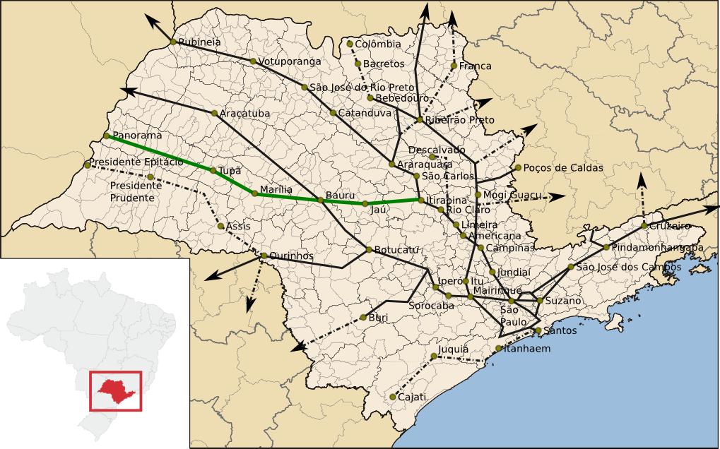 Resultado de imagem para linha de trem paulista bauru