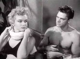 Cropped screenshot of Marilyn Monroe and Keith...