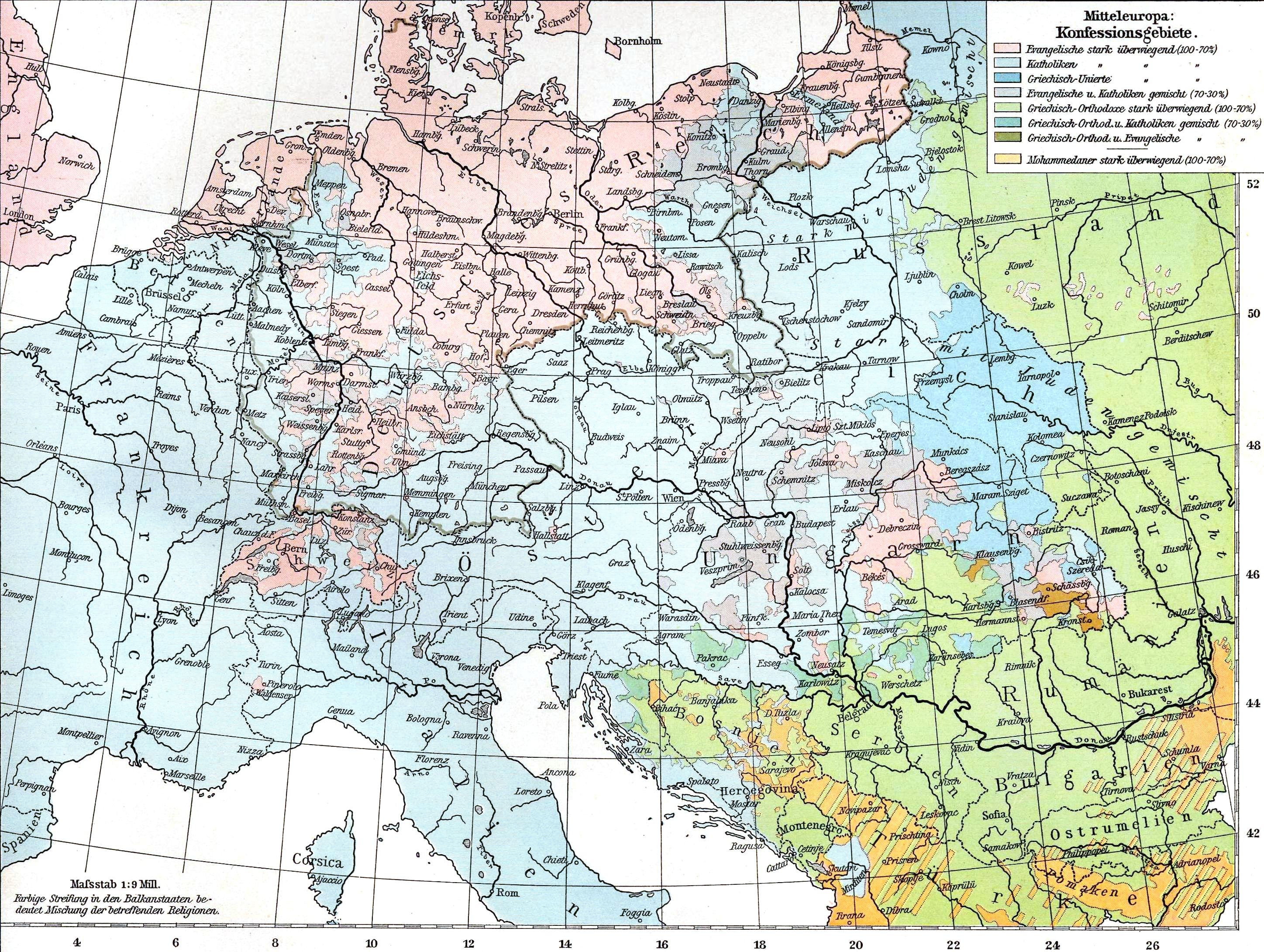 Datei Mitteleuropa Konfessionen 1901 Jpg Wikipedia