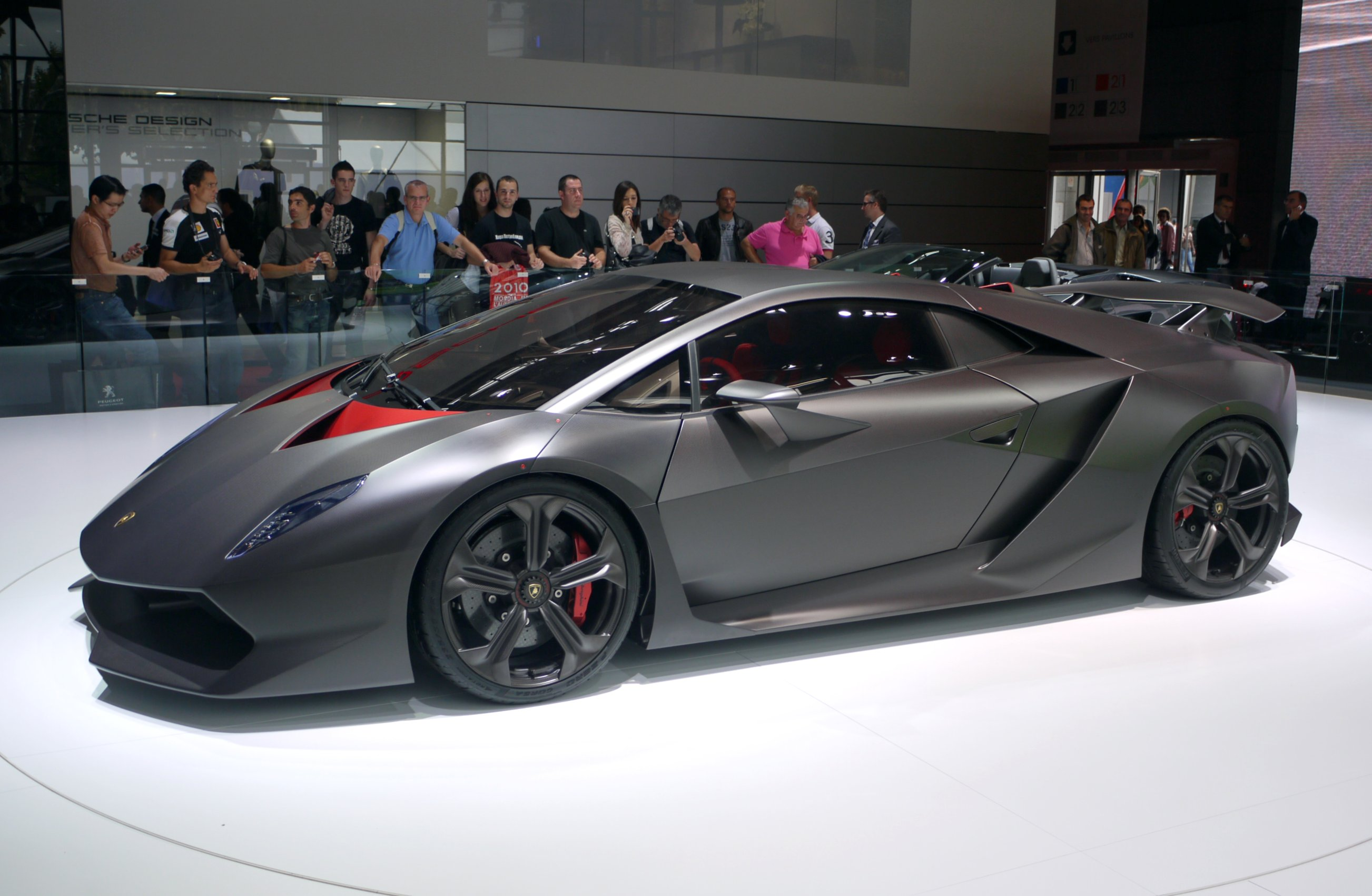 The Sesto Elemento Concept On Display At The 2010 Paris Motor Show.  Lamborghini ...
