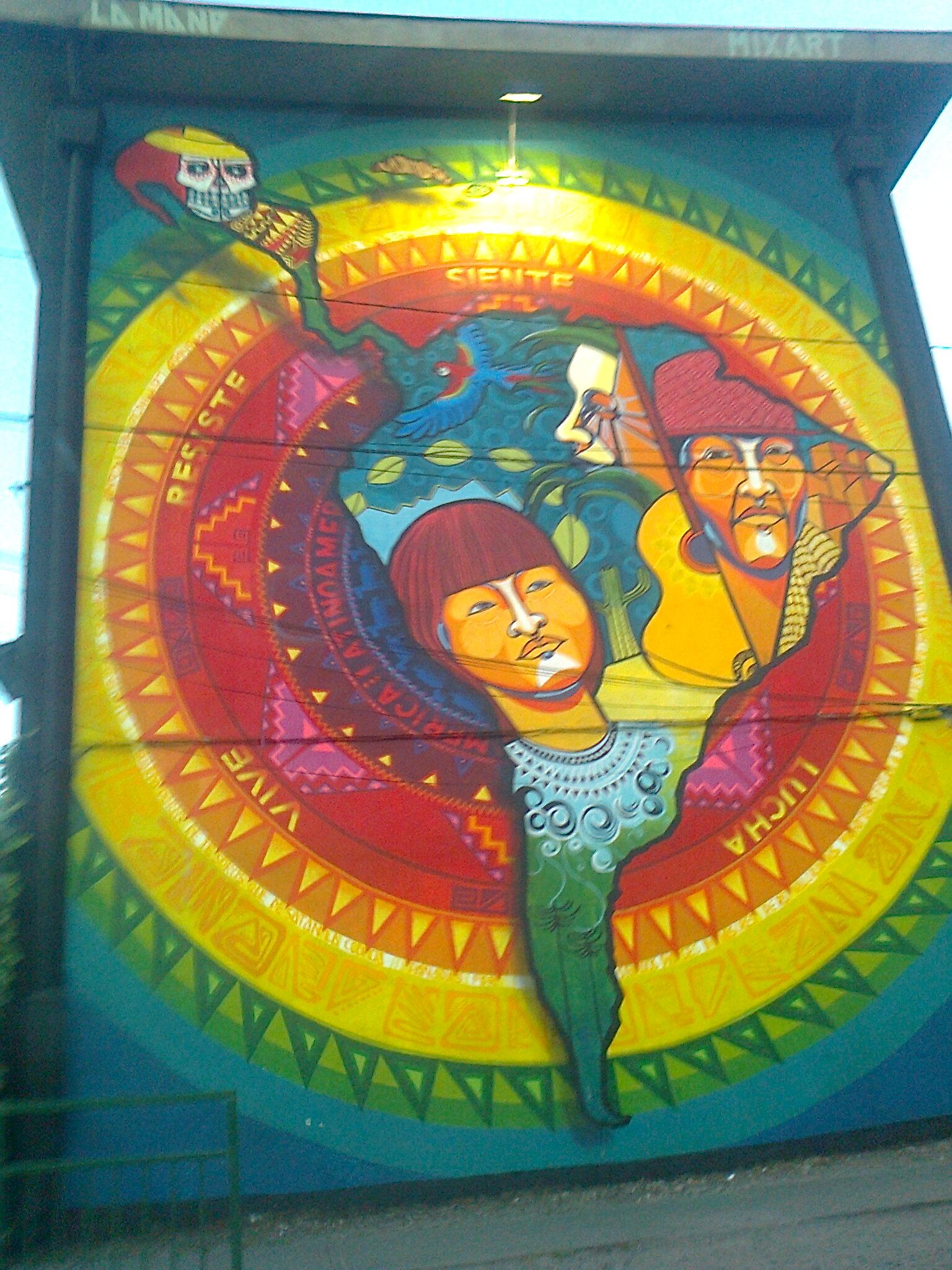 Latinoamérica, mural del grupo La Mano