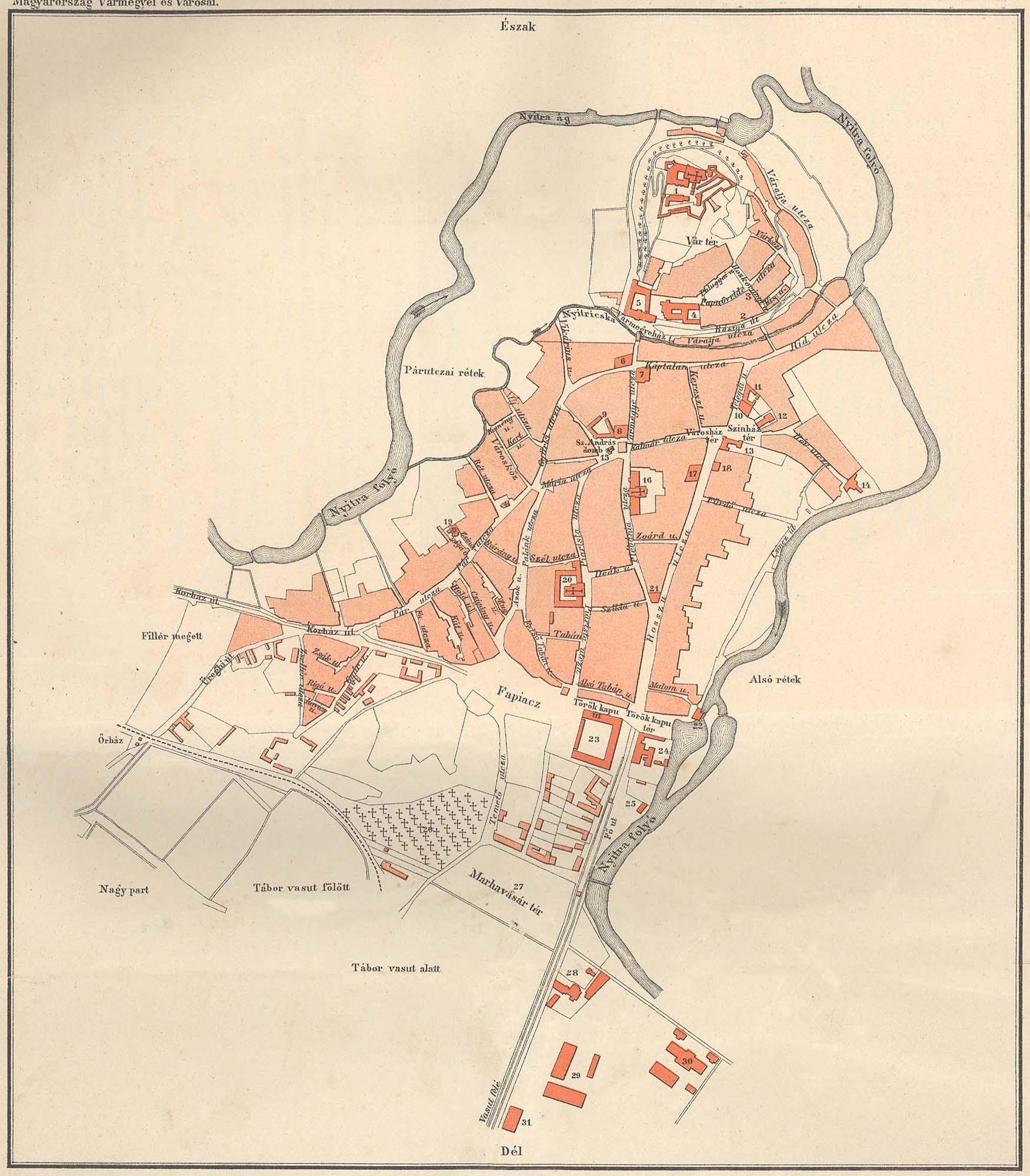 File Nyitra Terkep 1899 Borovszky Szerint Jpg Wikimedia Commons
