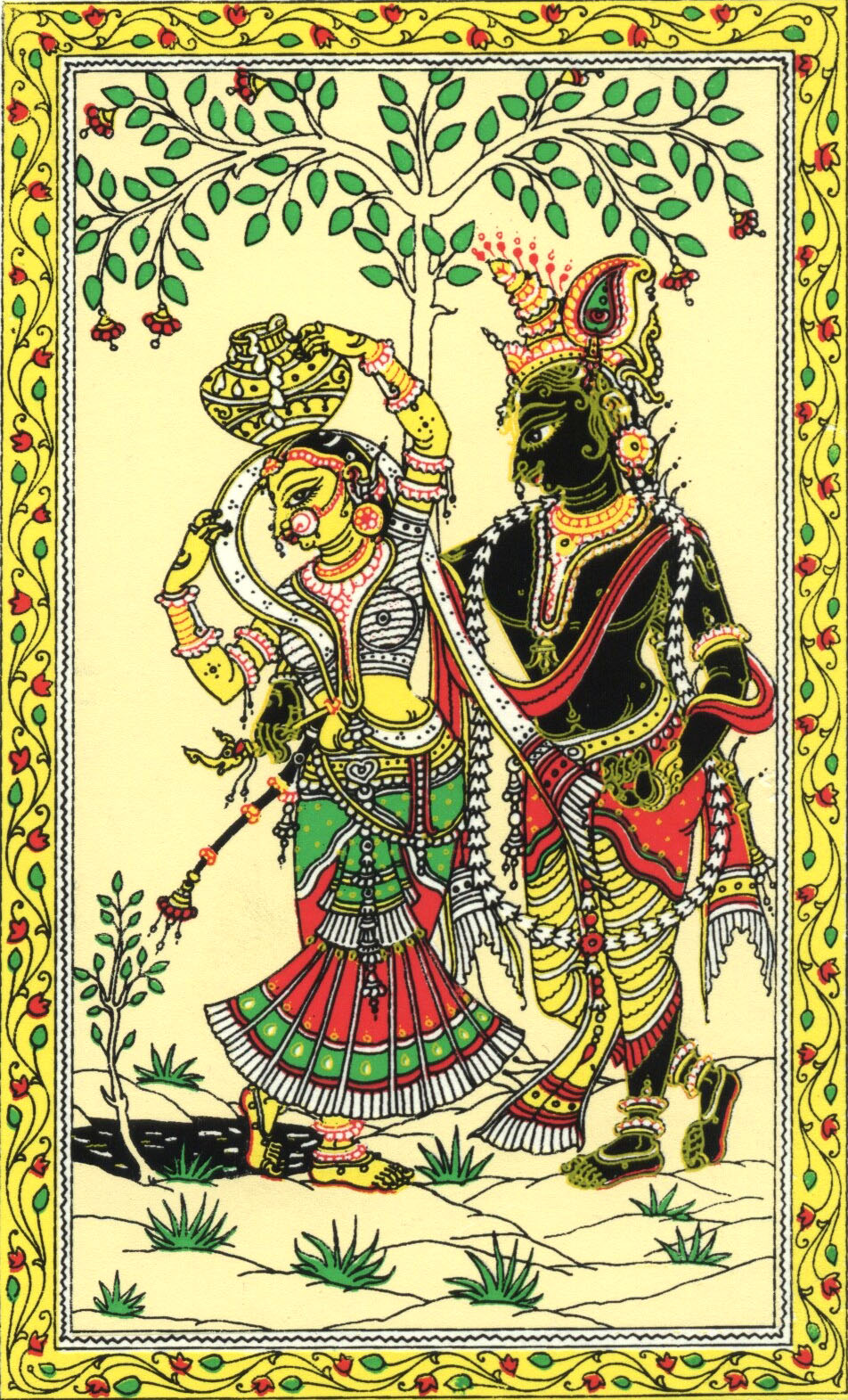 Image result for radha krishna patachitra
