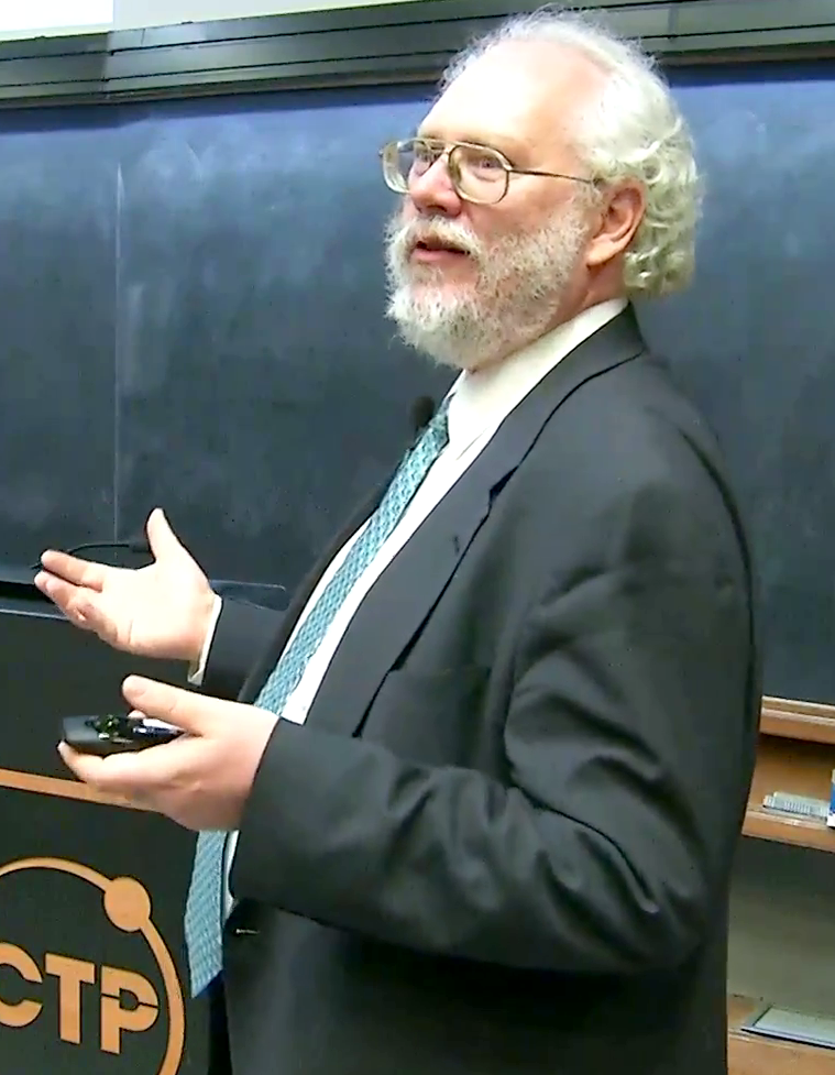 Peter Shor speaking<br>after receiving the 2017 Dirac Medal