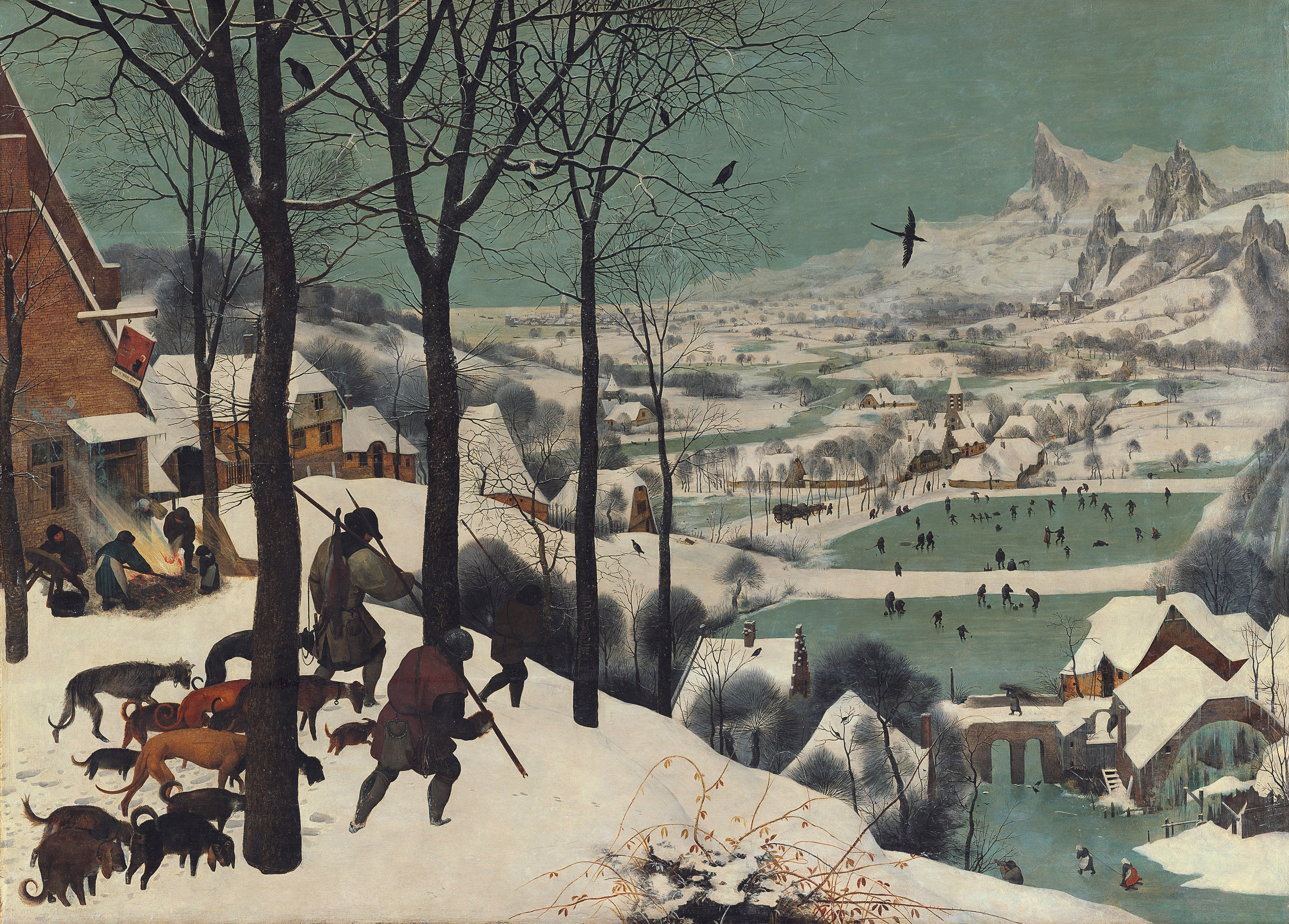 Hunters in the Snow (1565)
