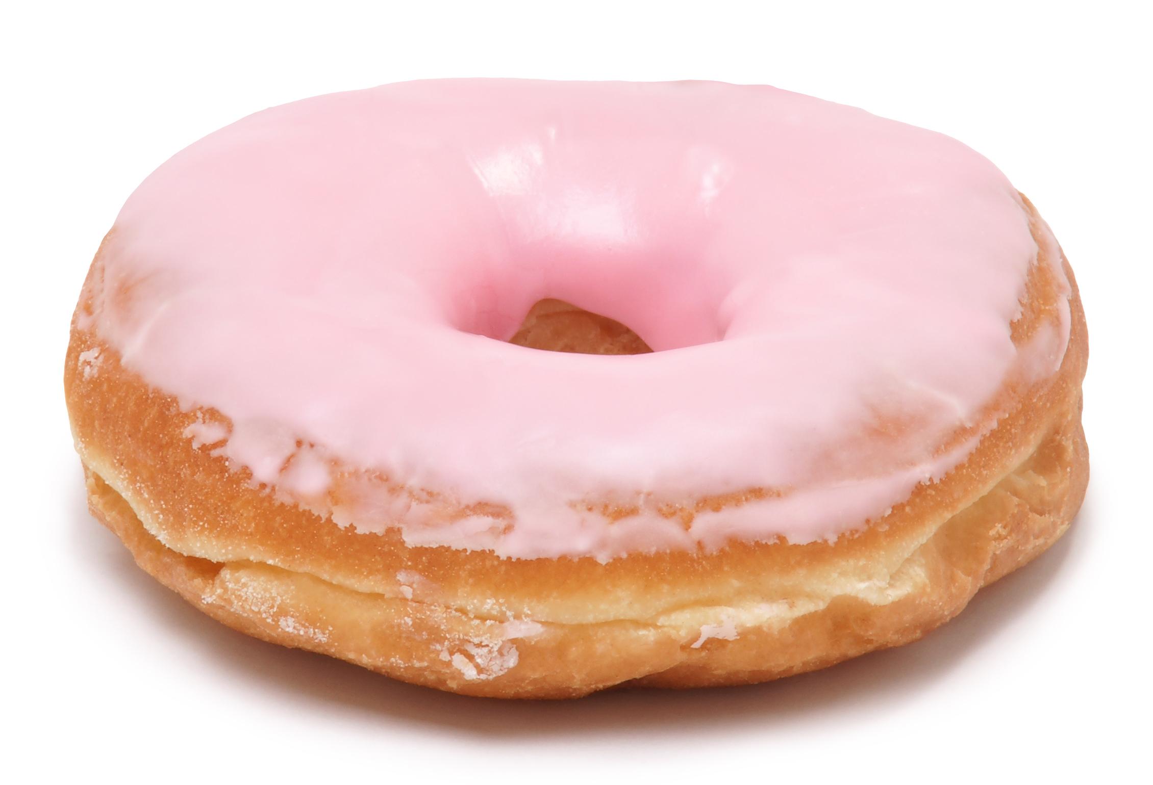 Frosted Pink Donut Dog Toy